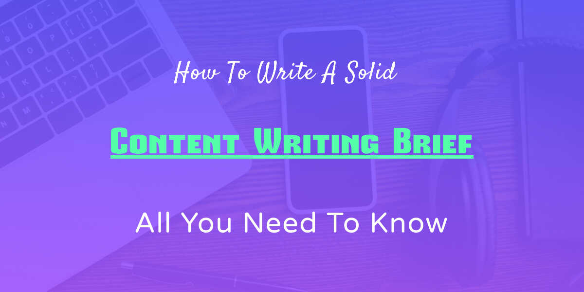 content writing brief