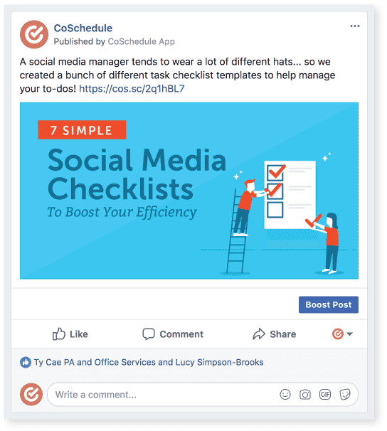 Social media content checklist