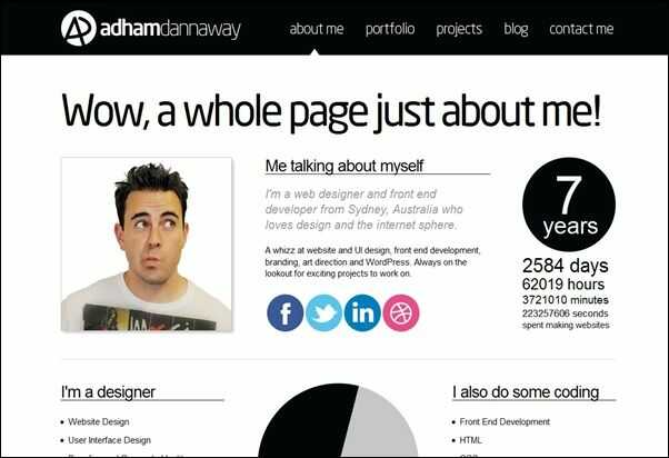 Example of about page content