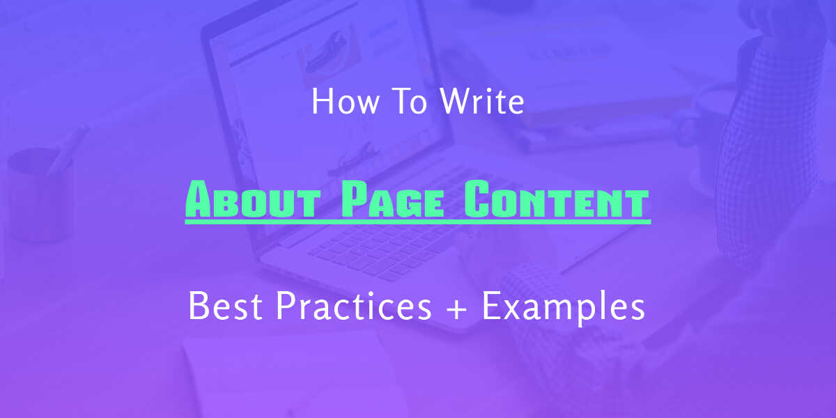 write about page content