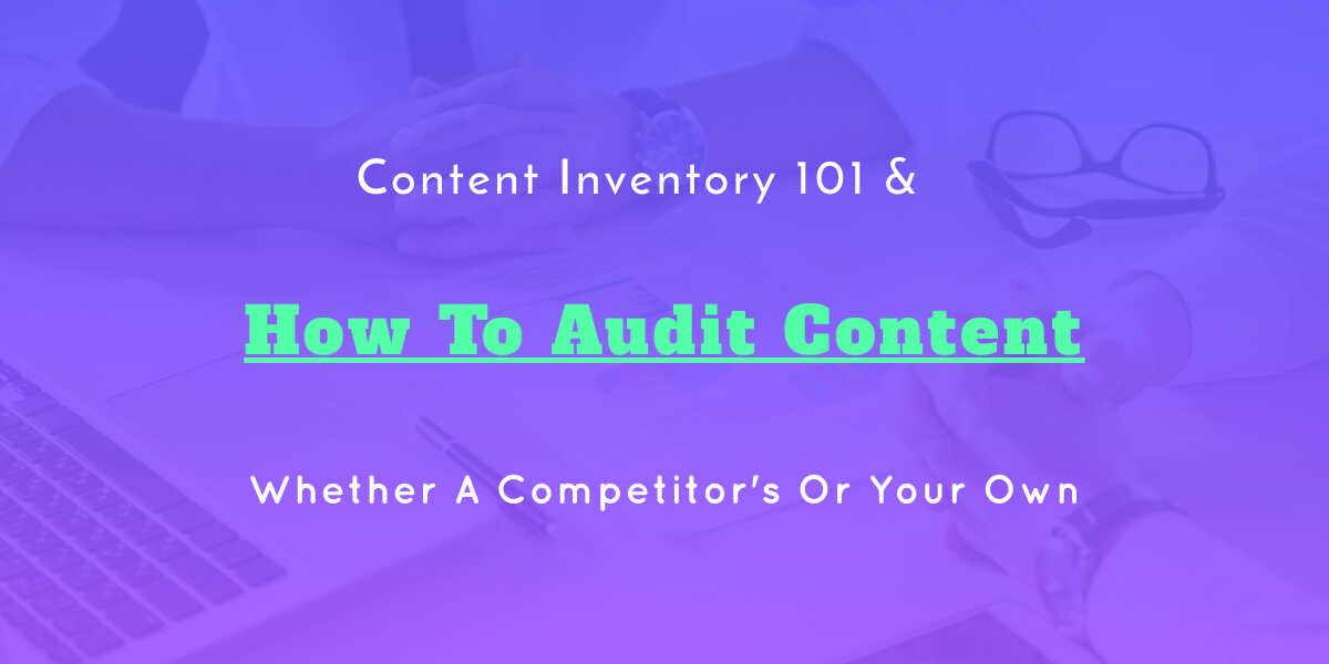 web content audit