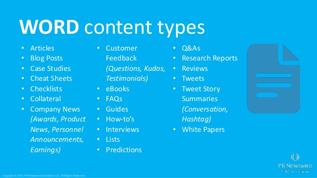 Editorial planner content types