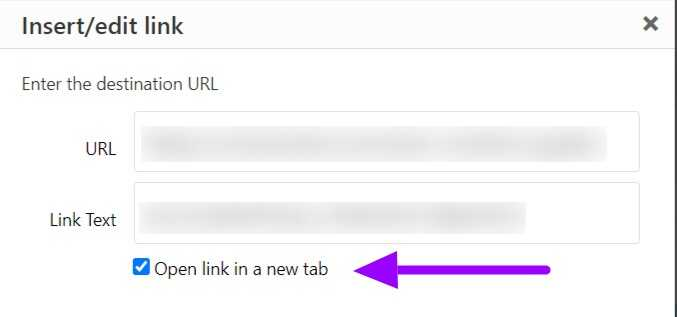 Open external links in a new tab