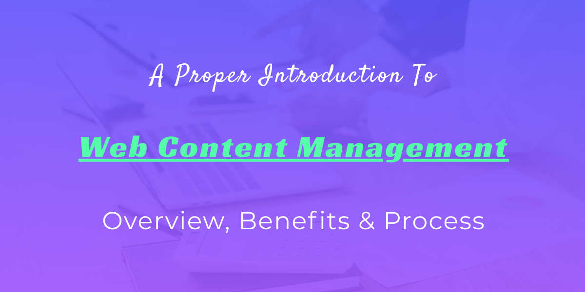 web content management