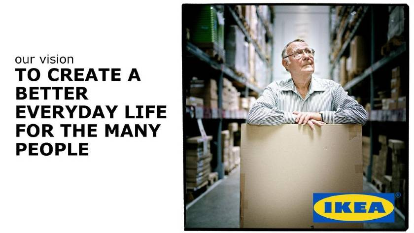 An example of a futuristic vision statement by Ikea