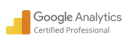 google analytics certificate white