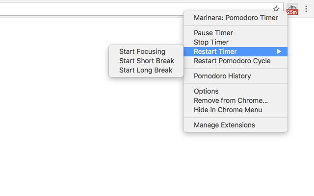 Marinara: Pomodoro Timer settings menu - Writing Chrome Extensions