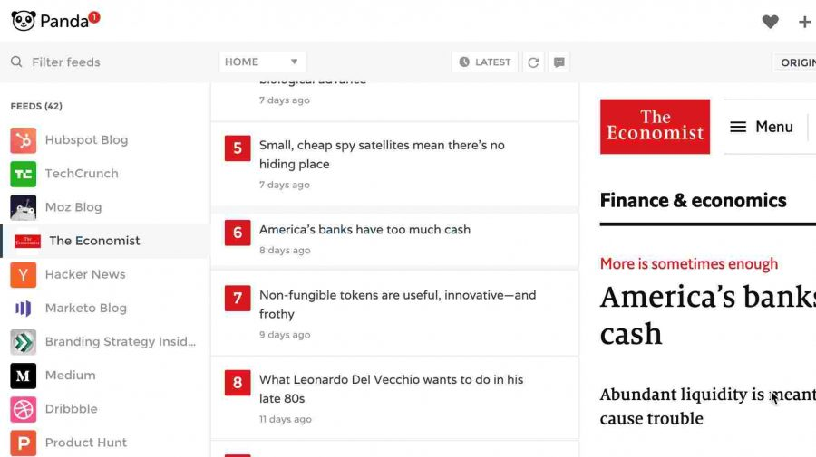 Panda extension showing top news from favourite feeds added in Panda account - Writing Extensions For Chrome