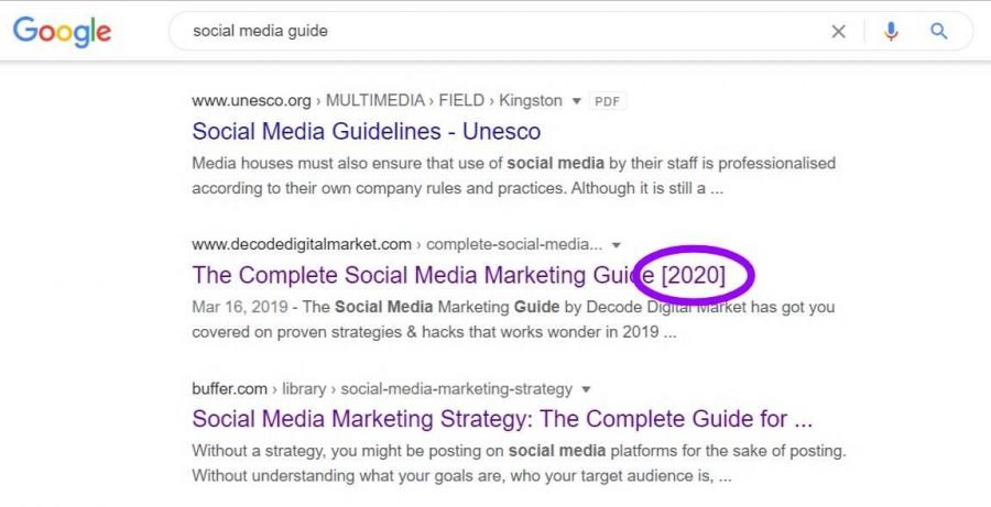 Update content writing for SEO